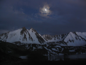 Photo: Tegermach Lake, moon