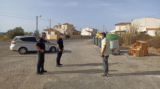 La Policía Local de Huércal-Overa inicia una campaña de control de residuos