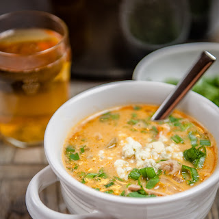 Buffalo Beer Chicken Wing Soup.