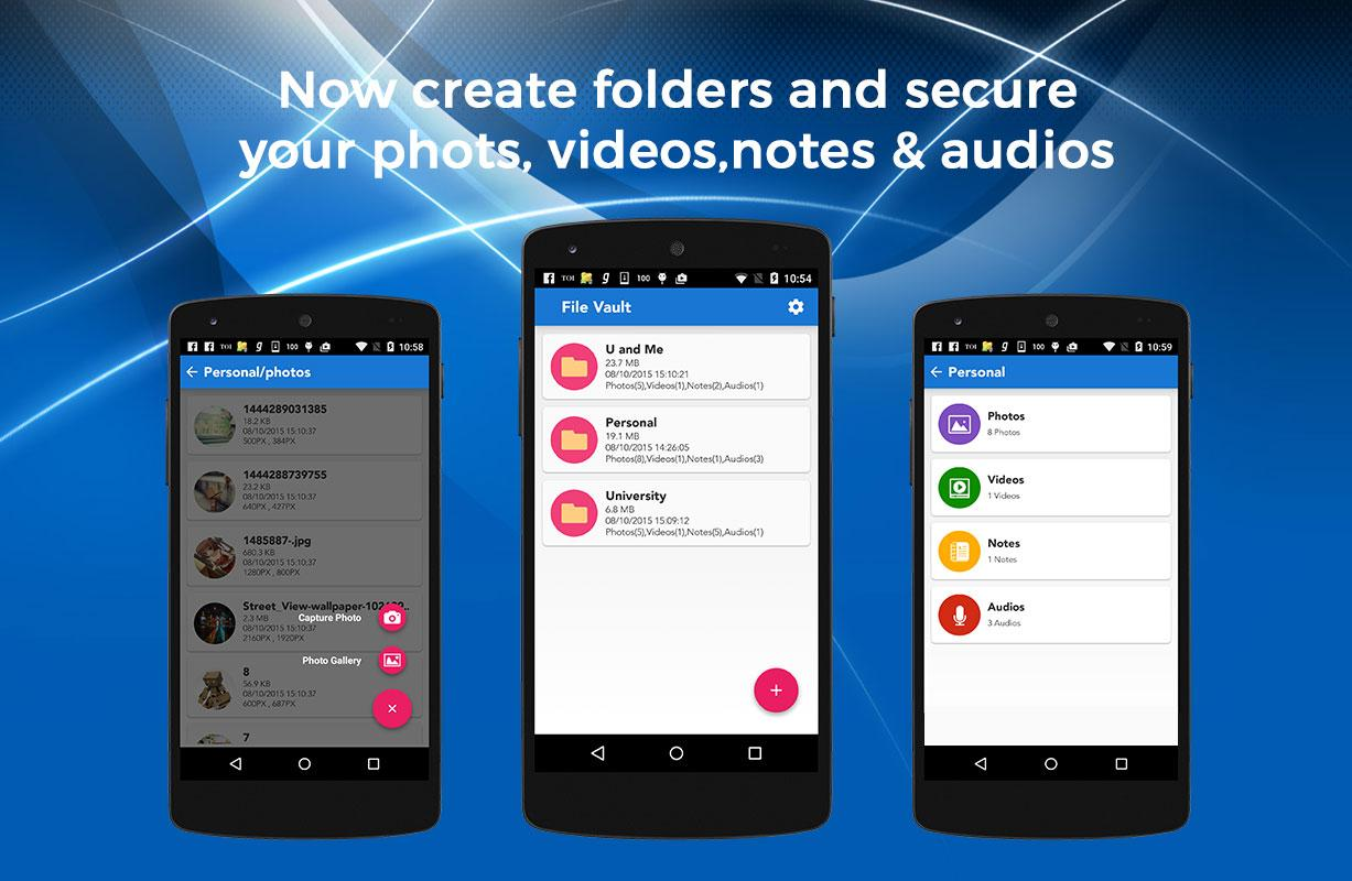 File Vault+Lock Photos,Videos- screenshot