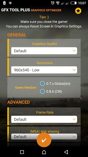 PUB GFX Tool Plus for PUBG - NOBAN 60FPS 2.0.7 screenshots 1