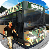 Indian Army Off-Road Bus Driver: Driving Simulator