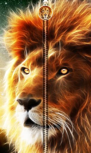 3D Lion Zipper UnLock