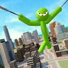 Green Hero Stickman Criminal Mafia icon