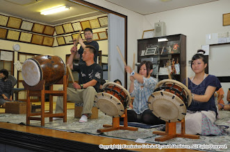Photo: 【平成23年(2011) 太鼓開き】  指導部による演奏。