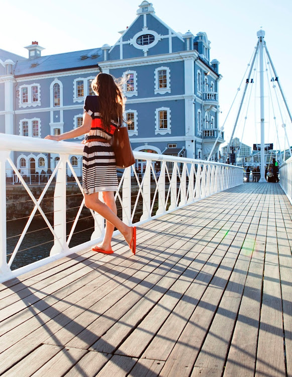 The V&A Waterfront's old swing bridge was only 2m wide.