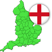 Counties of England - Quiz on county towns & flags