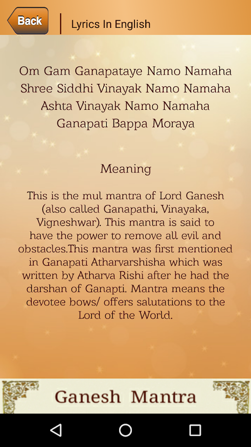Ganesh Mantra Android Apps On Google Play