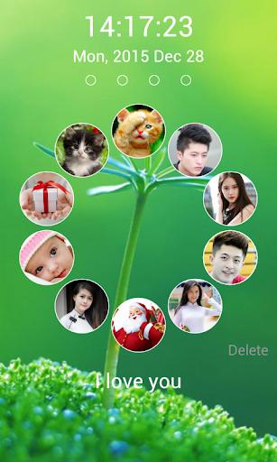 photo lockscreen - circle