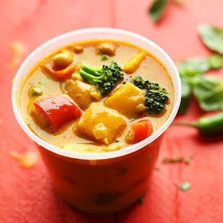 Thai Yellow Coconut Curry with Mango.