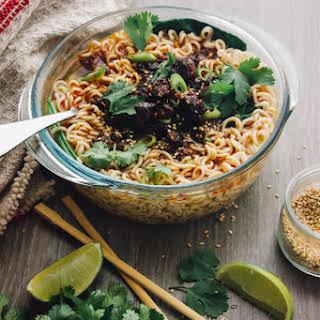 "Chorizo Dan Dan Noodles ""Mexican Style""."