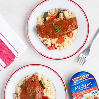 Mackerel And Roasted Vegetable Couscous.