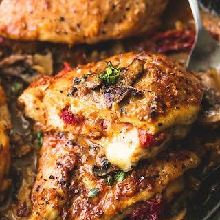 Stuffed Chicken Marsala.