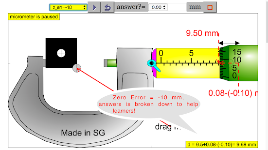 Micrometer Simulator Pro - náhled