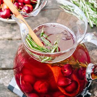 Sparkling Cherry Rosé Sangria Recipe