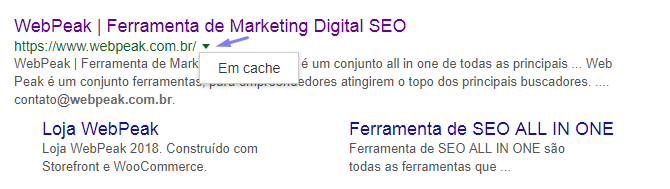 Google Cache webpepak