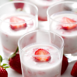 Strawberry Rhubarb Panna Cotta