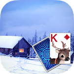 Solitaire Snowy Village Theme