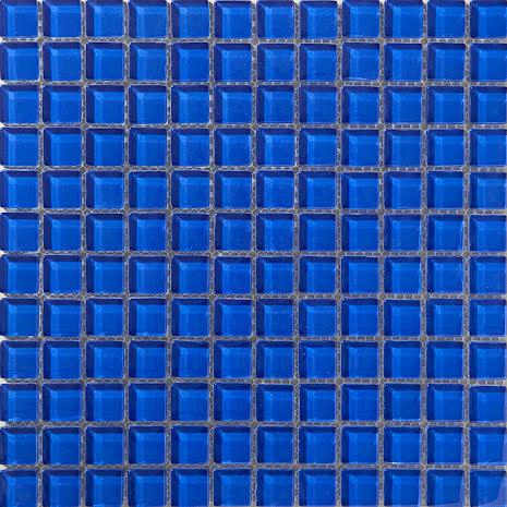 T156 Blå blank 23x23mm