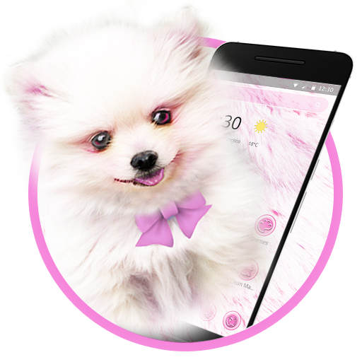 Pink Cute Puppy Dog Theme Android APK Download Free By Cool HD Themes & Live Wallpapers