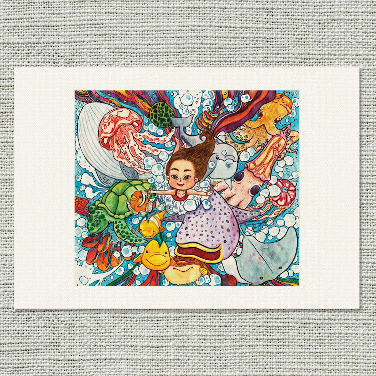 A3 Canvas Print【The Blue Beer Ocean】 by Jeovine