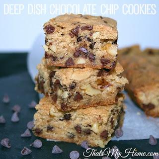 Deep Dish Chocolate Chip Cookies