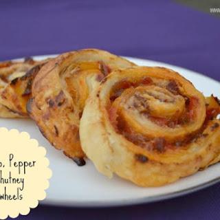 Chorizo, Pepper & Chutney Puff Pastry Pinwheels Recipe
