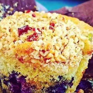 Blueberry Muffins with a nutty topping