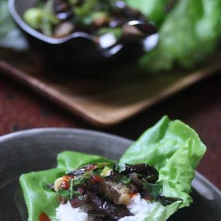 Vietnamese Eggplant and Leek Lettuce Wraps Recipe