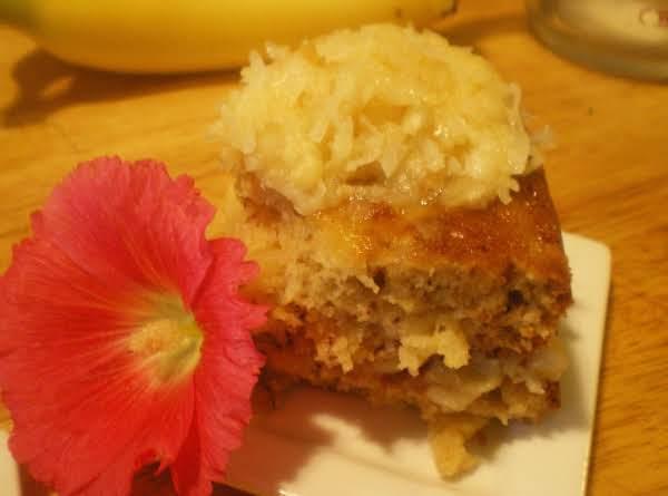 Tropical Pineapple Banana Cake Recipe