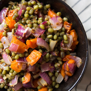 Carrot & Mung Bean Salad with Cumin Vinaigrette.