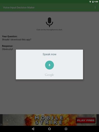 玩娛樂App Voice Input Decision Maker免費 APP試玩