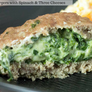 Stuffed Turkey Burgers with Spinach & Three Cheeses Recipe