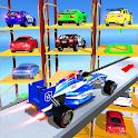 Police Multi Level Formula Car Parking Games icon