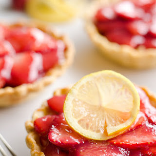 Mini Strawberry Lemon Pies
