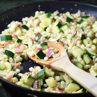 Corn and Zucchini Sauté.