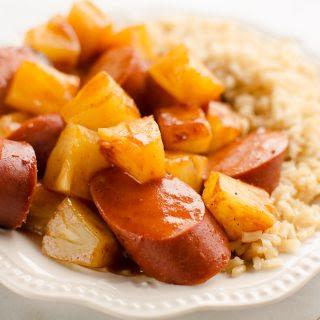 Kielbasa Pineapple Crock Pot Recipes.