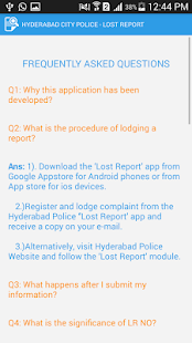 Lost Report - Hyderabad Police- screenshot thumbnail