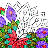 Mandala Glitter Color by Number - Paint by Numbers icon