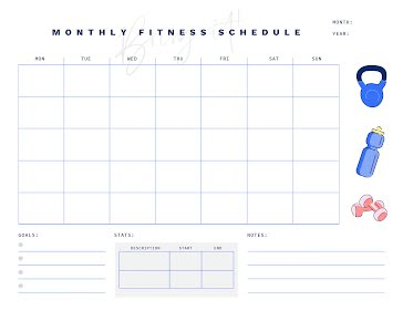 Fit Month - Planner template