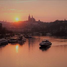 The early evening by Luboš Zámiš - City,  Street & Park  Night