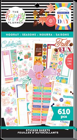 Me & My Big Ideas Happy Planner Stickers Value Pack - Hooray Seasons 610