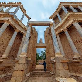 teatro romano de Mérida, Badajoz by -. Phœnix .- - Buildings & Architecture Public & Historical