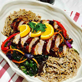 Delicious Duck On Soba Buckwheat Noodles.