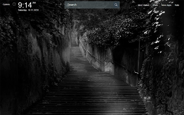 Black and White Wallpapers Theme New Tab