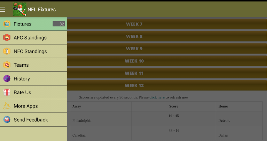 android Football NFL Scores Live Screenshot 5