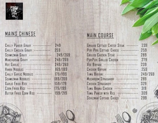 Young Wild Free Cafe menu 6