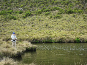 Photo: Roddy fishing at Lake Eillis