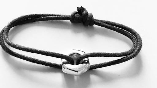 Bracelet boulon en argent