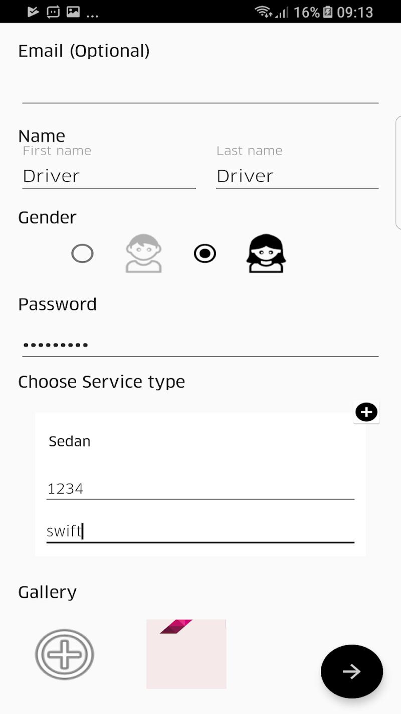 Скриншот AiroCabs Driver